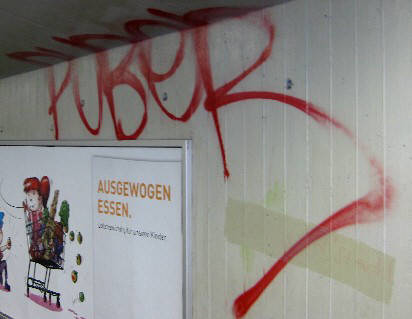 PUBER GRAFFITI TAG Z�RICH Puber is Zurich's wildest writer